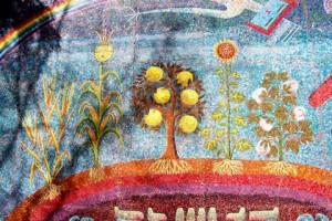 Genesis El regalo de la vida Mural por Miguel Covarrubias