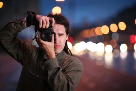fotógrafo caucásico