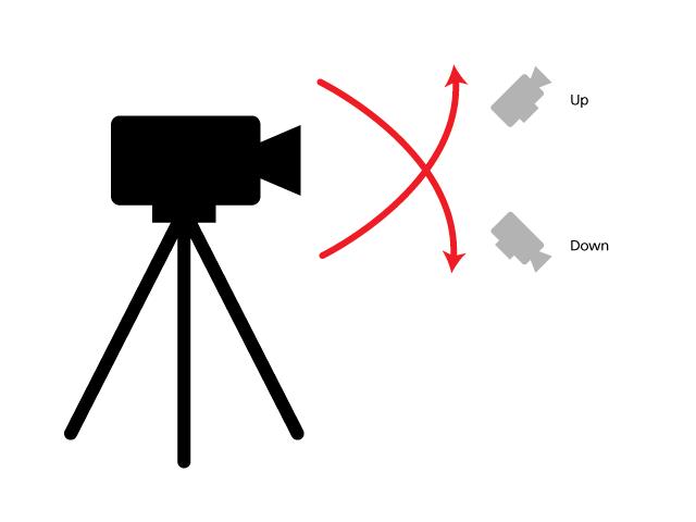 Tilt Up/Down: Movimiento de cámara vertical