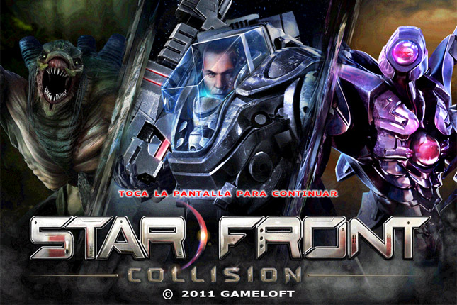 starfront collision start screen