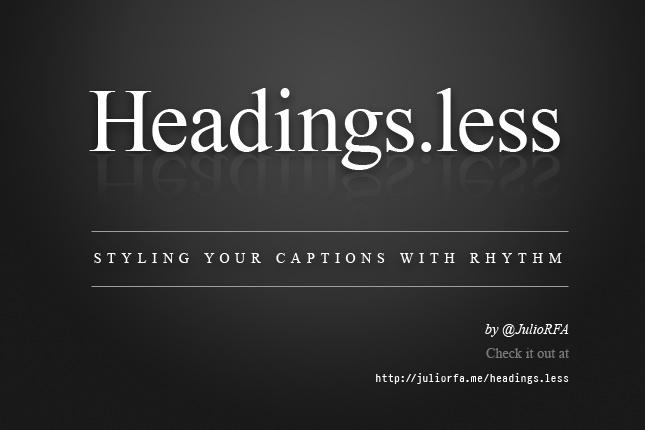 Headings.less - Estilizando Tus Encabezados Con Ritmo