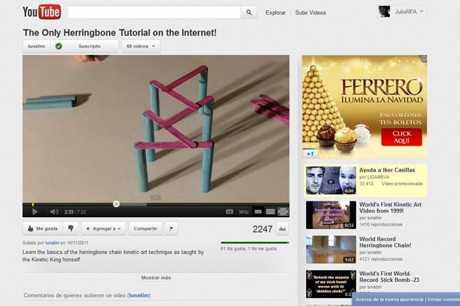 Youtube: Página de cideo individual