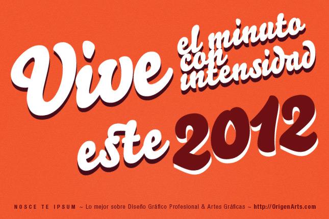 Hey Diseñador Vive el Minuto con Intensidad este 2012