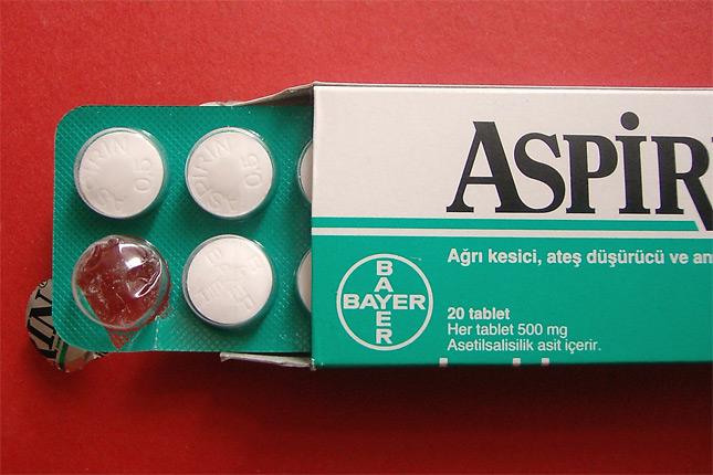 caja de aspirinas