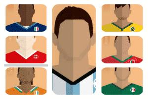ilustraciones dutbolistas mundial brasil 2014