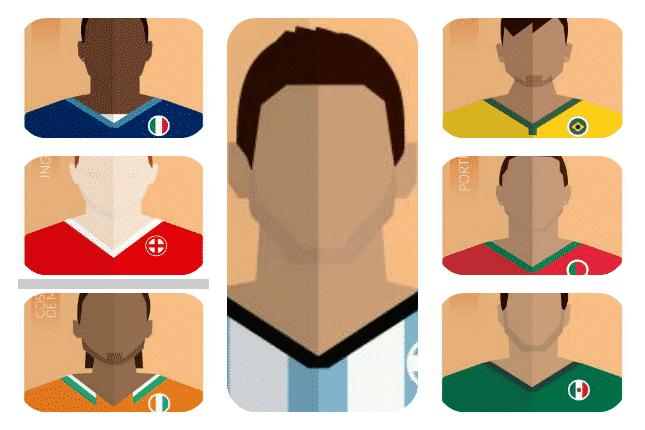 Ilustraciones de Las Estrellas del Mundial de Fútbol Brasil 2014
