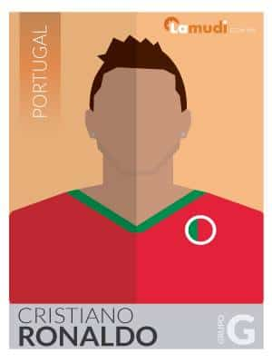 ilustracion futbolista cristiano ronaldo