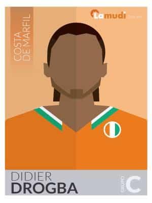 ilustracion futbolista didier drogba