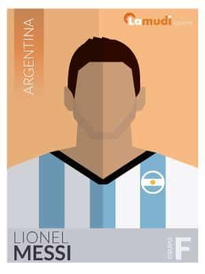 ilustracion futbolista lionel messi