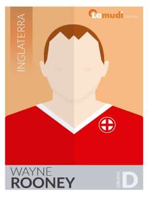 ilustracion futbolista wayne rooney