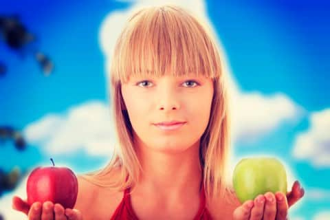 elegir manzana roja o verde