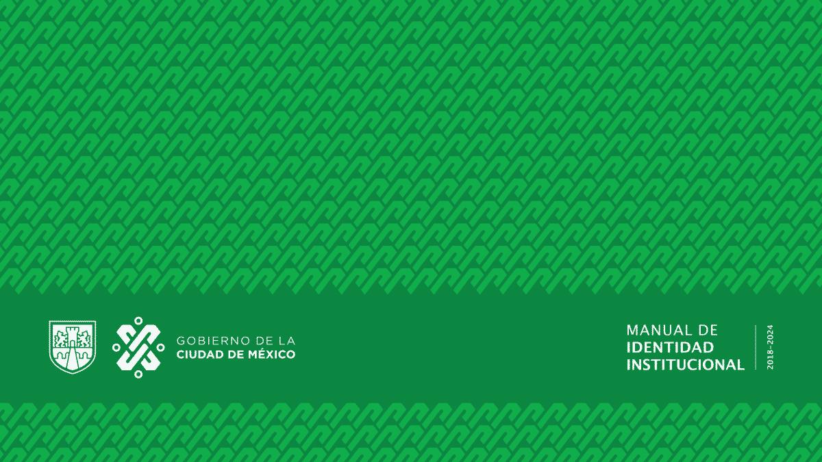 Portada Manual de Identidad Institucional Gobierno CDMX 2018-2024