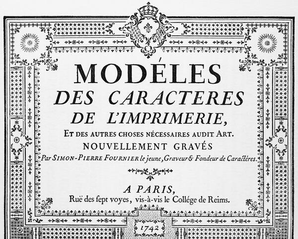 muestra tipográfica de caracteres de pierre simon fournier